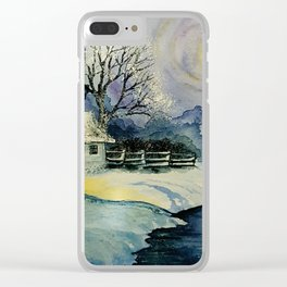 Winter, watercolor Clear iPhone Case