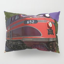 Rock Island Rocket Streamliner Passenger Train in Night Thunderstorm Pillow Sham