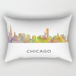 Chicago, Illinois Skyline WB1 Rectangular Pillow