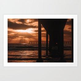 Ocean Beach CA Art Print