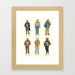Animal Dudes Framed Art Print