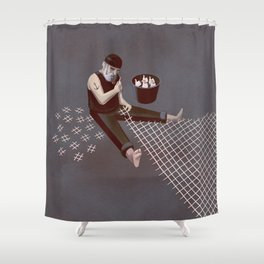 The Hastag Net Shower Curtain