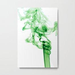 Green Smoke Metal Print