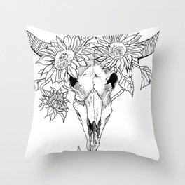 budding life Throw Pillow