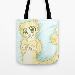Cat on a Pillow Tote Bag