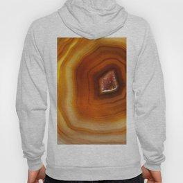 Orange Burnt Red Geode Raw Stone Crystal Agate Boho Hippie Fine Art  Print Hoody