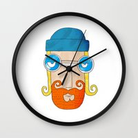 jack daniels Wall Clocks featuring Jack by marcusmelton