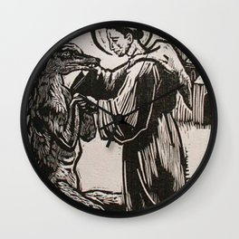 Compassion for a werewolf Wall Clock