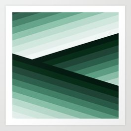 Serene Contemporary Green Ombre Design Art Print