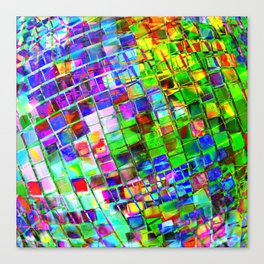 Psychedelic Planet Disco Ball Canvas Print