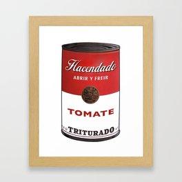 Lata de Tomate Triturado Hacendado  Framed Art Print