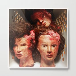 Three Severed Heads Metal Print
