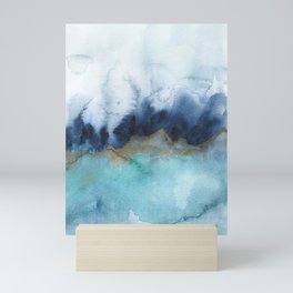 Mystic abstract watercolor Mini Art Print