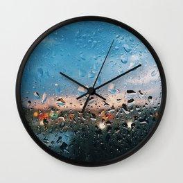 Evening Rainfall Wall Clock