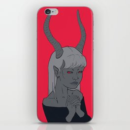 Charcoal Succubus iPhone Skin