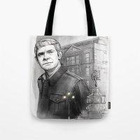 john snow Tote Bags featuring John by RileyStark