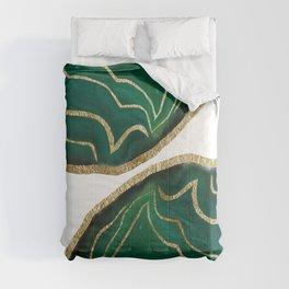 Emerald Agate Gold Glam #1 #gem #decor #art #society6 Comforters