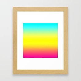 Ombre Magical Rainbow Unicorn Colors Framed Art Print