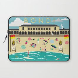 Bondi Beach Vintage Style Art Print Laptop Sleeve