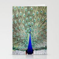 peacock Stationery Cards featuring Peacock by Whimsy Romance & Fun