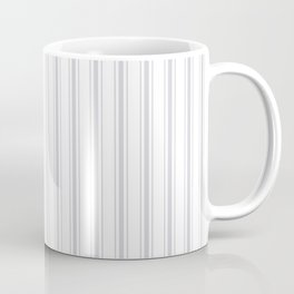 Soft Grey Mattress Ticking Wide Striped Pattern - Fall Fashion 2018 Coffee Mug