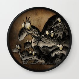 Funny Monsters Wall Clock