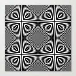 Black an White Hypnosis Canvas Print