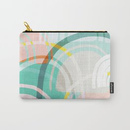 Somewhere - mint & peach Carry-All Pouch