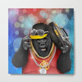 Rapper of the apes iPhone 4 5 6 7, pillow case, mugs and tshirt Metal Print