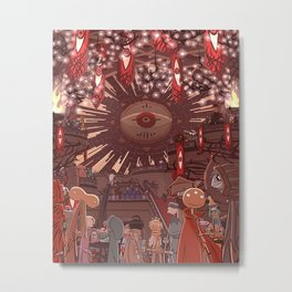 Monster Party Castle Metal Print
