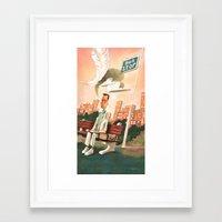 forrest gump Framed Art Prints featuring Forrest Gump Tribute by Daniela Volpari