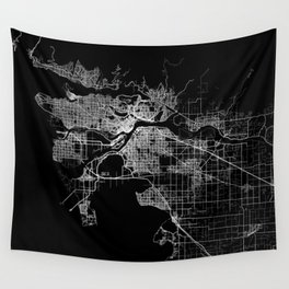 vancouver map canada Wall Tapestry