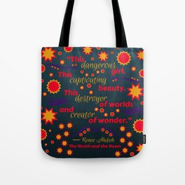 The Wrath and the Dawn by Renee Ahdieh Tote Bag