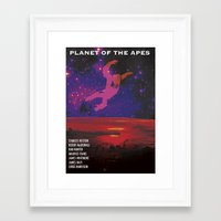 planet of the apes Framed Art Prints featuring Planet of the Apes by KevinACArter