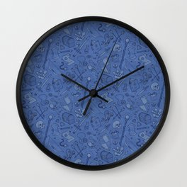 Inventory in Blue Wall Clock