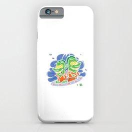 Kids Birthday Celebration Alien UFO Gift Dropped At Birth iPhone Case