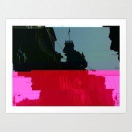 Trieste Glitch 01 Art Print