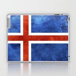 Icelandic Flag Laptop & iPad Skin