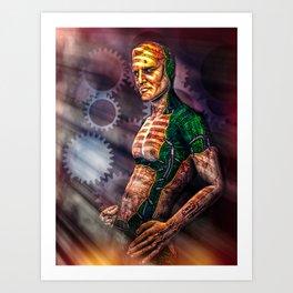 Man And Machine Art Print