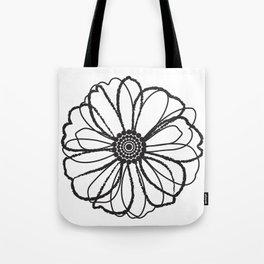Anemone - Monotone Perennial Tote Bag