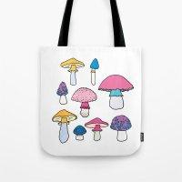 mushroom Tote Bags featuring Mushroom by Elyse Beisser