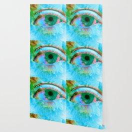 Eye in Bloom [Blue] Wallpaper