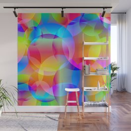Soap bubbles for air mood. Wall Mural