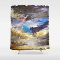 number Shower Curtains featuring Cloudy Skies number 3 by James Peart