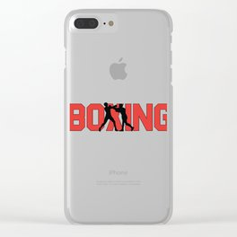 Boxing Boxers Clear iPhone Case