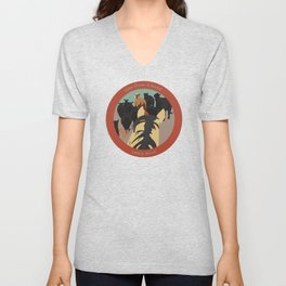 view from a horse CATTLE DRIVE Unisex V-Neck