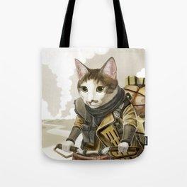 Rider Cat Tote Bag