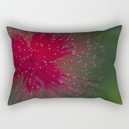 Macro photograph of the Calliandra flower. Rectangular Pillow