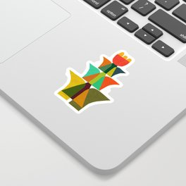 Whimsical bromeliad Sticker