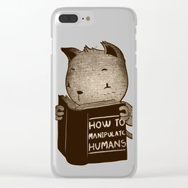 Cat Book How To Manipulate Humans Clear iPhone Case